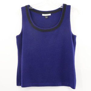 St. John Royal Blue Knit Sleeveless Top